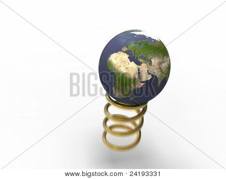 Spring Gold Planet Earth