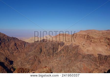 Panoramic View Of Petra Desert From The High Place Of Sacrifice, Jordan