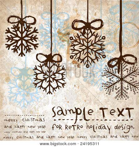 Christmas vintage background for xmas design