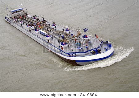 Riverboat with oil