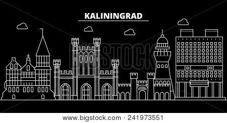 Kaliningrad City Silhouette Skyline. Russia - Kaliningrad City Vector City, Russian Linear Architect