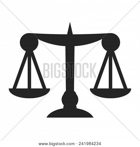 Law Scale Icon Simple Vector Sign And Modern Symbol. Law Scale Vector Icon Illustration, Editable St