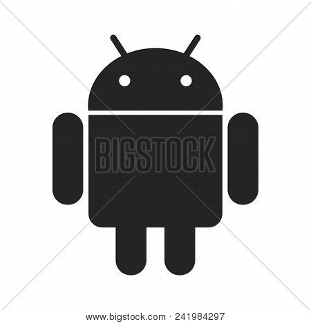 Android Icon Simple Vector Sign And Modern Symbol. Android Vector Icon Illustration, Editable Stroke