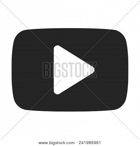 Play Button Icon Simple Vector Sign And Modern Symbol. Play Button Vector Icon Illustration, Editabl