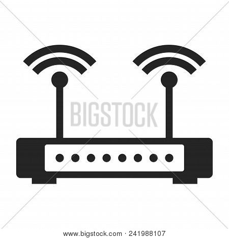 Wifi Modem Icon Simple Vector Sign And Modern Symbol. Wifi Modem Vector Icon Illustration, Editable