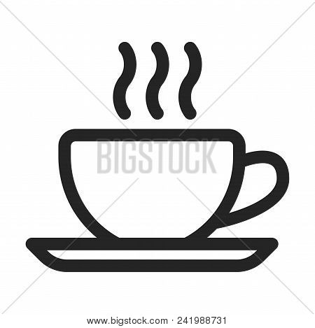 Coffee Cup Icon Simple Vector Sign And Modern Symbol. Coffee Cup Vector Icon Illustration, Editable