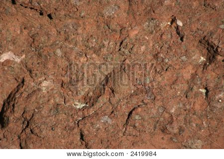 Red Rock For Background