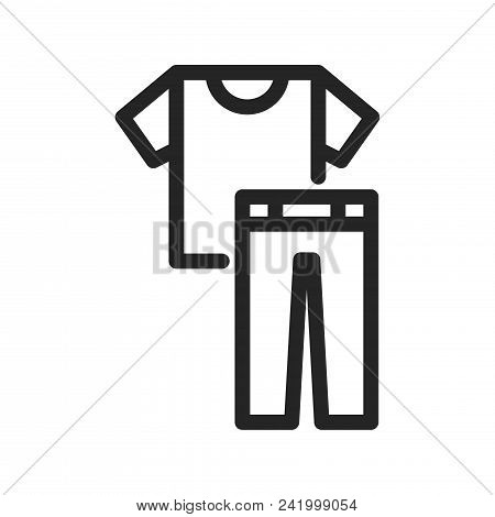 Shirt And Trousers Icon Simple Vector Sign And Modern Symbol. Shirt And Trousers Vector Icon Illustr