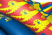 Flag of Lord Warden of the Cinque Ports. Close up. poster