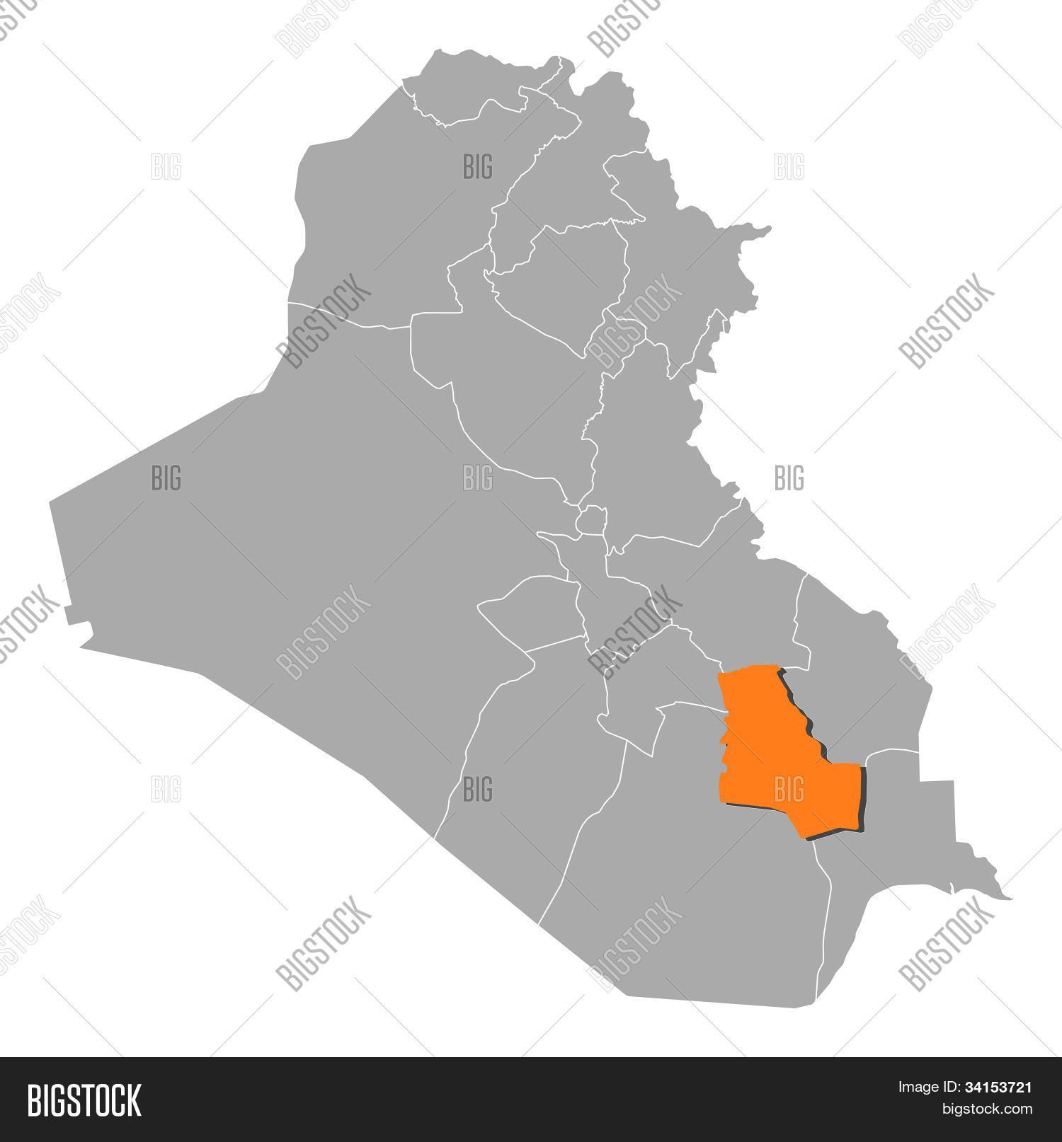 Map Iraq, Dhi Qar Image & Photo (Free Trial) | Bigstock