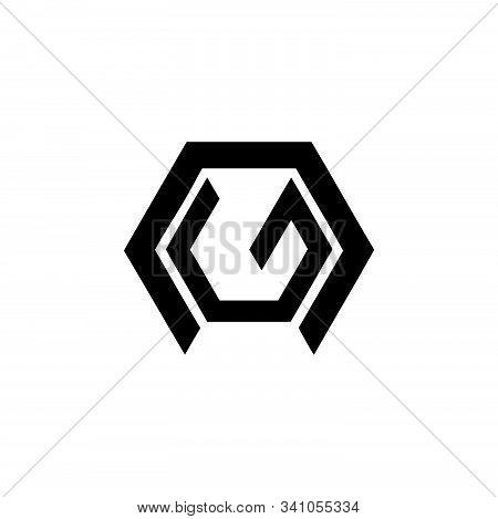 Simple Ng, Ne, Gn, En Geometric Initials Company Logo