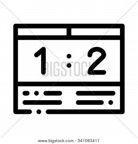 Soccer Scoreboard Icon Vector. Outline Soccer Scoreboard Sign. Isolated Contour Symbol Illustration