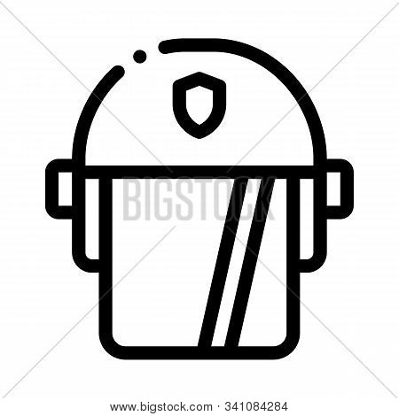 Policeman Swap Helmet Icon Vector. Outline Policeman Swap Helmet Sign. Isolated Contour Symbol Illus