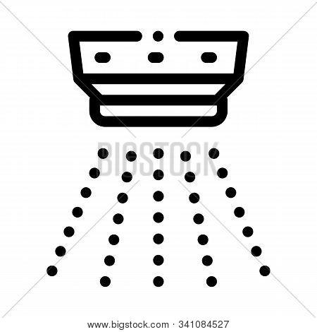 Smoke Alarm Detector Icon Vector. Outline Smoke Alarm Detector Sign. Isolated Contour Symbol Illustr