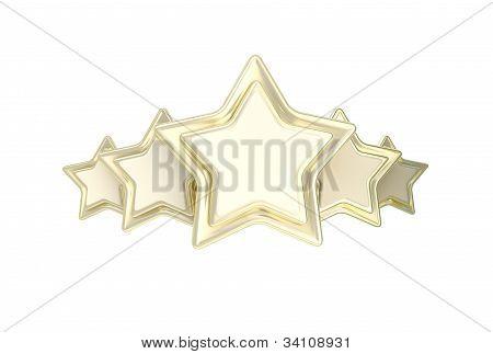 Five star rating golden emblem
