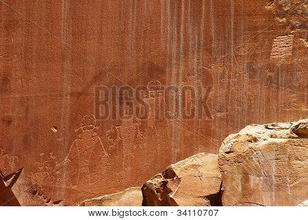 Petroglyphs Of Capitol Reef