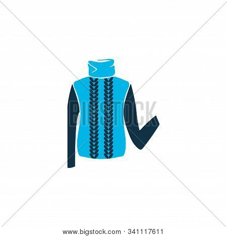 Turtleneck Sweater Icon Colored Symbol. Premium Quality Isolated Pullover Element In Trendy Style.