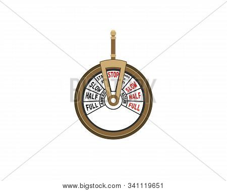 Telegraph Machine Isolated On White Background. Vector Illustration.