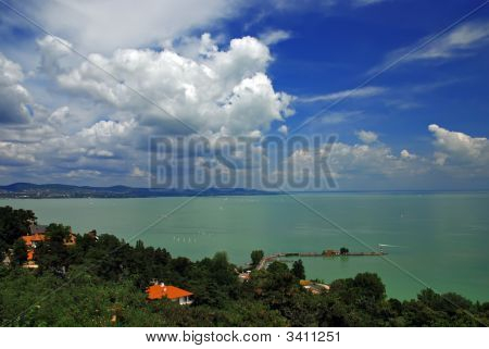 View of Balaton lake from Tihany - Hungary poster