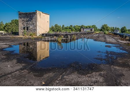 Daugavpils, Latvia - June 25, 2016: Roof Of Desolate Building In The Area Of Daugavpils Fortress In