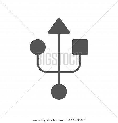 Usb Sign. Usb Modern Simple Icon. Eps 10