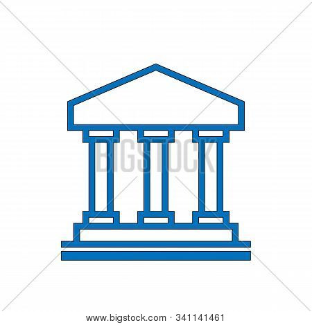 Vector Illustration Of Architectural Element - Portico, An Ancient Temple