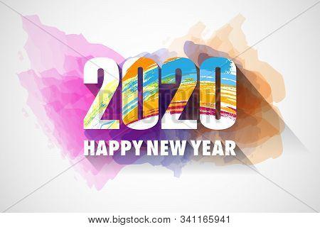 Happy New Year 2020 Wishes Seasonal Greeting Background