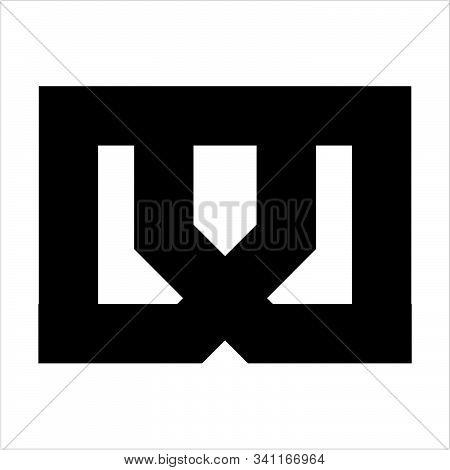 Simple M, Dmd, Dd, Mu Initials Geometric Logo And Vector Icon