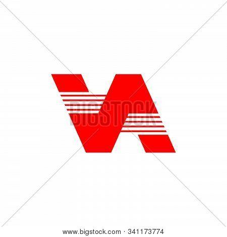 Letter Va Simple Geometric Logo Vector Unique