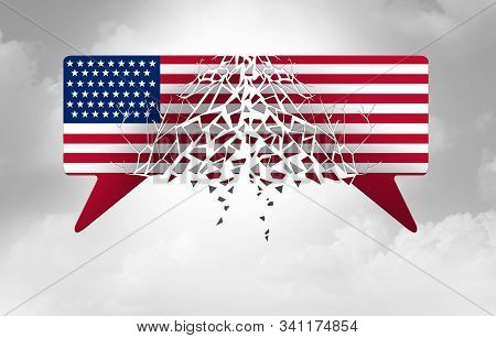 Divided American Politics And Political Divisiveness In The United States As Government Disagreement