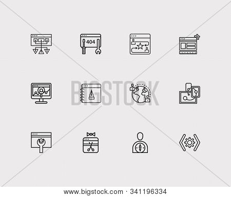 Optimization Icons Set. Seo Optimization And Optimization Icons With Maintenance, Sitemap And Websit