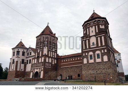 Mir, Belarus - May 8, 2019: Mir Castle Complex In Belarus, Unesco World Heritage.