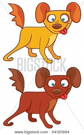 Dogs in cartoon style