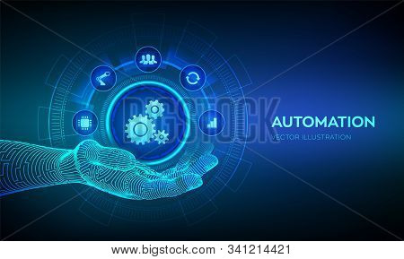 Iot And Automation Software Concept As An Innovation, Improving Productivity In Technology And Busin