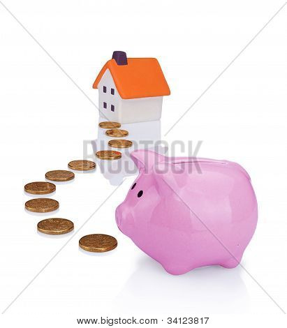 Coin Bank And House