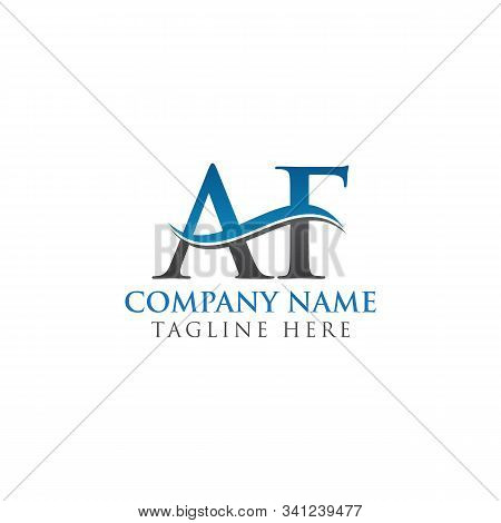 Af Letter Logo With Creative Modern Business Typography Vector Template. Creative Alphabetical Af Lo