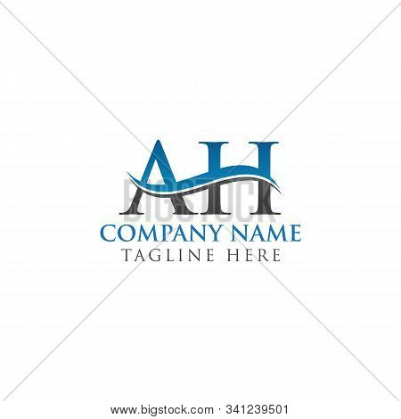 Ah Letter Logo With Creative Modern Business Typography Vector Template. Creative Alphabetical Ah Lo
