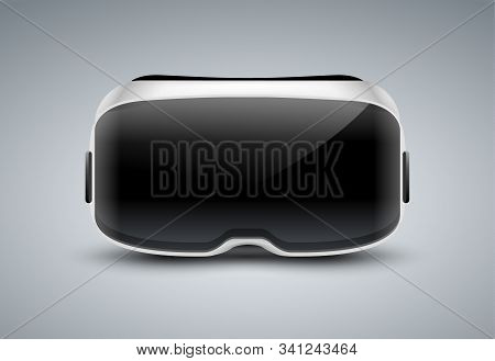 Vr Glasses Vector Virtual Reality Headset Icon. Virtual Reality Helmet Isolated Goggles Device Illus