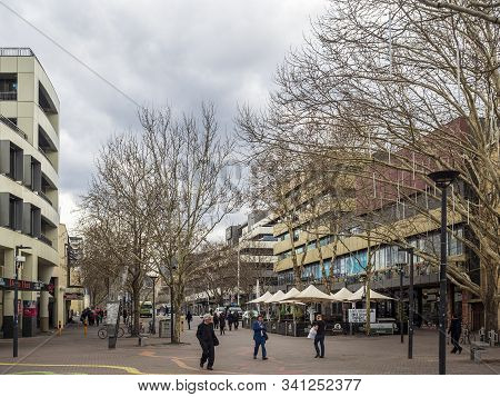 Canberra, Australia - Sep 3, 2018: Overcast And Gloomy Scene At The Canberra Center Shopping Mall. F