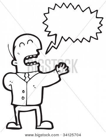 cartoon man giving speech
