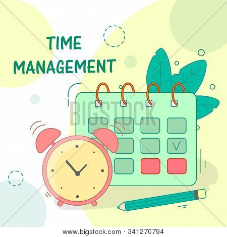 Effective Time Management. Business Process Teamwork Working On Plan Organization Social Networks Pr