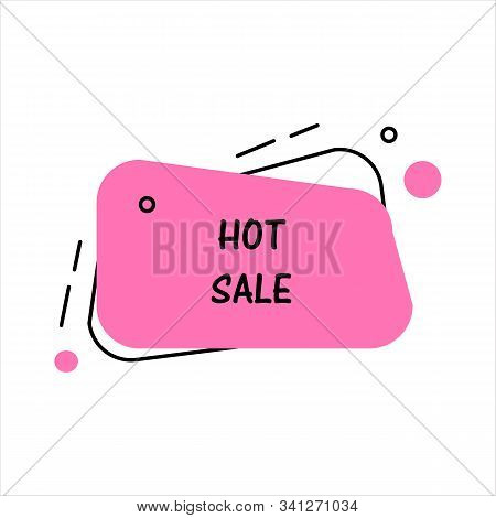 Hot Sale. Flat Vector Geometrical Vintage Warm Color Banner. Texting Box Promotion Concept. Vector I