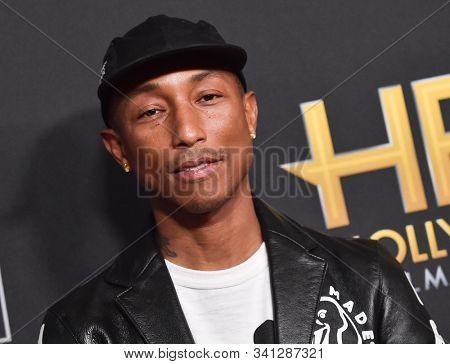 LOS ANGELES - NOV 03:  Pharrell Williams arrives for the Hollywood Film Awards 2019 on November 03, 2019 in Beverly Hills, CA