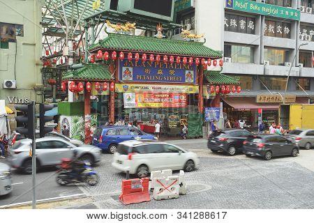 Kuala Lumpur, Malaysia - November 7, 2019: The Famous Travel Destinations China Town Of Kuala Lumpur