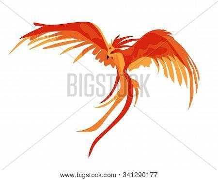 Phoenix. The Magic Phoenix. Harry Potter. Professor Dumbledores Bird. Vector Illustration Isolated O