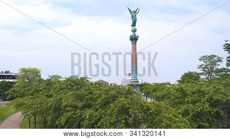 Copenhagen, Denmark - Jul 04th, 2015: The Ivar Huitfeldt Column Was Built In 1886 To Commemorate The