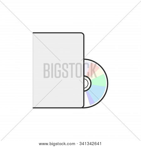 Dvd Icon Disc Vector Blank Illustration. Dvd Disk Dvd Music Media Software