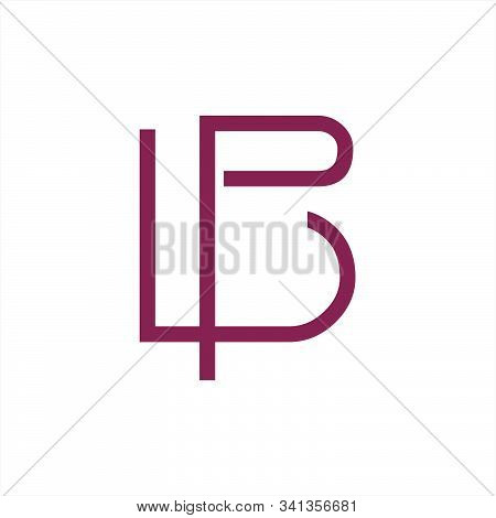 Pl, Lp Initials Line Art Geometric Company Logo