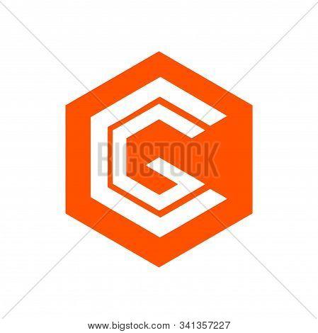 Cg, Gc, Cgo, Gco Initials Hexagonal Geometric Company Logo