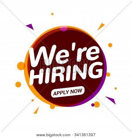 Job Vacancy, We Are Hiring Now. Hr Team Recruit Employee Concept. Career Job Vacancy Intervew Offer